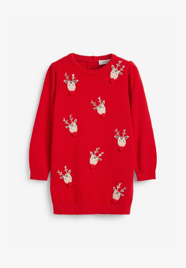 CHRISTMAS REINDEER  - Jumper dress - red