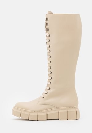 FUNTER - Lace-up boots - tamesis ibory