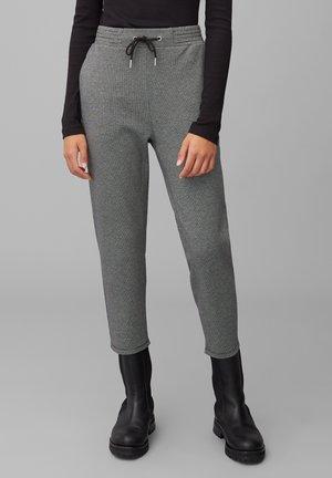 JOGG-PANTS MIT FEINEM PEPITA-MUSTER - Trousers - multi/black