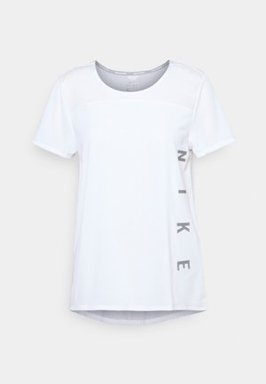 RUN MILER  - T-shirt imprimé - white/silver