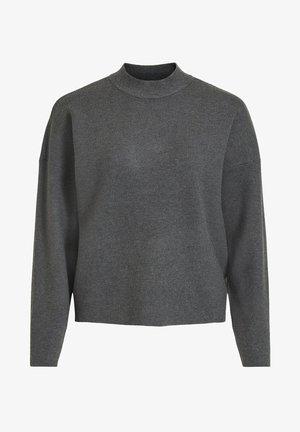 Strikpullover /Striktrøjer - dark grey melange