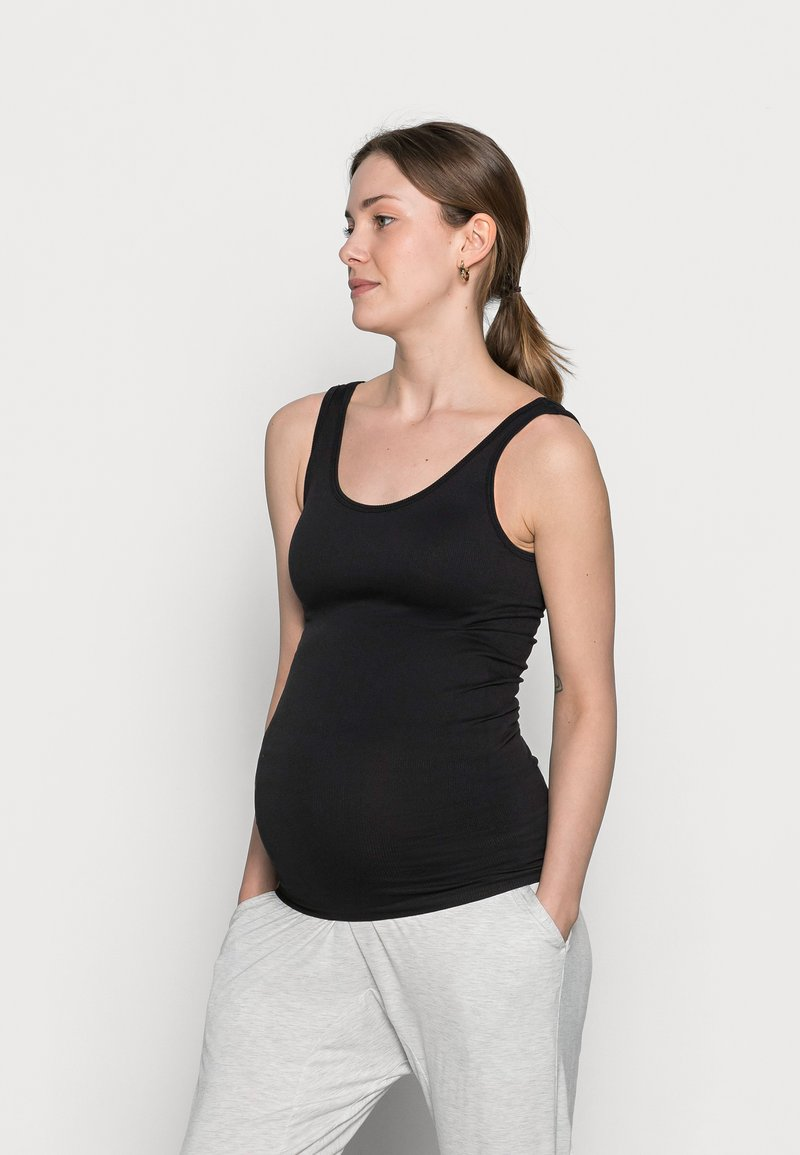 Pieces Maternity - PCMRENNY SEAMLESS LOUNGE - Top - black