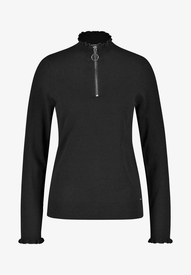 MIT TROYERKRAGEN - Pullover - black