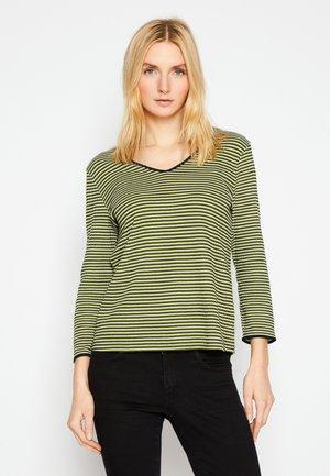 Long sleeved top - green/navy