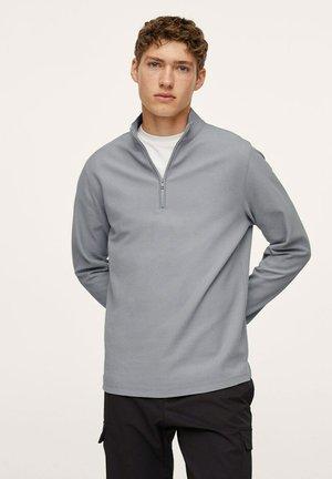 MIT ZIP-KRAGEN - Sweatshirt - eisgrau