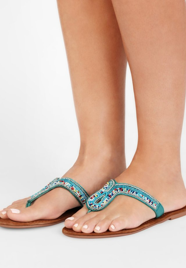 Tongs - turquoise