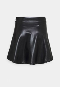Even&Odd - Mini PU Leather A-line skirt - Jupe trapèze - black - 6