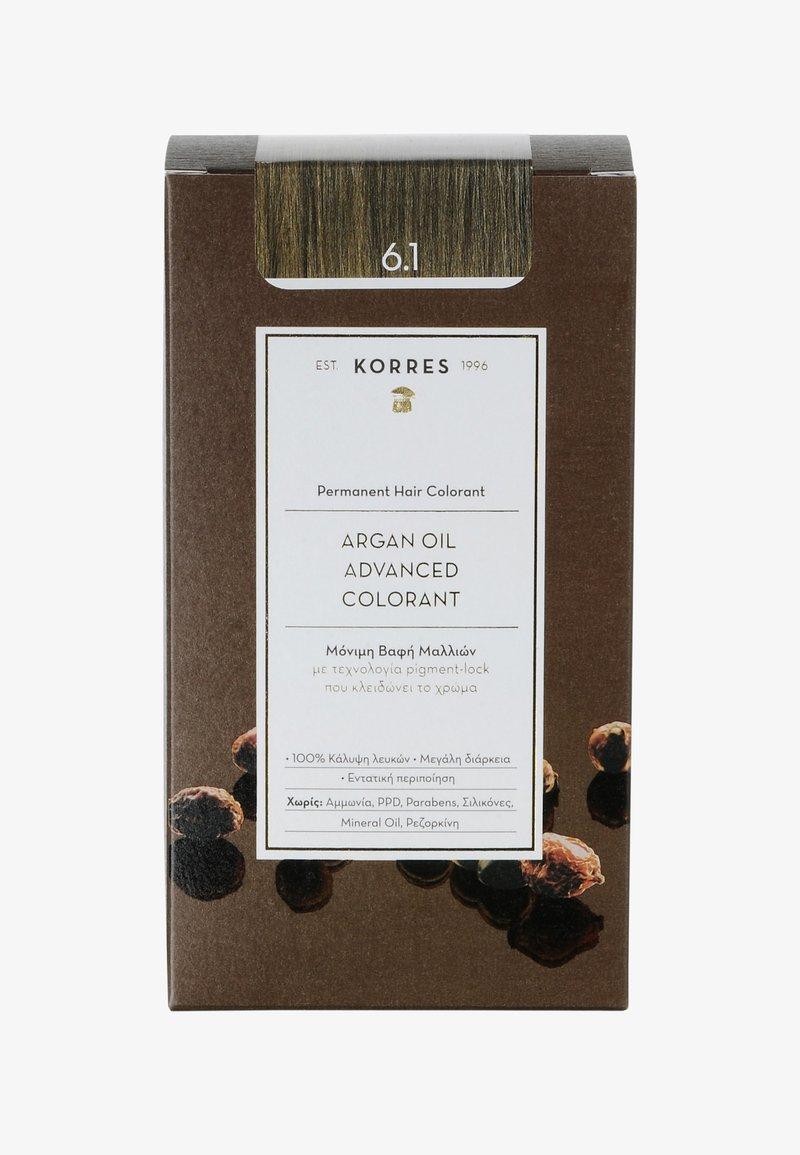 Korres - ARGANÖL HOCHENTWICKELTE COLORATION - Hair colour - 6.1 dunkelblond asch