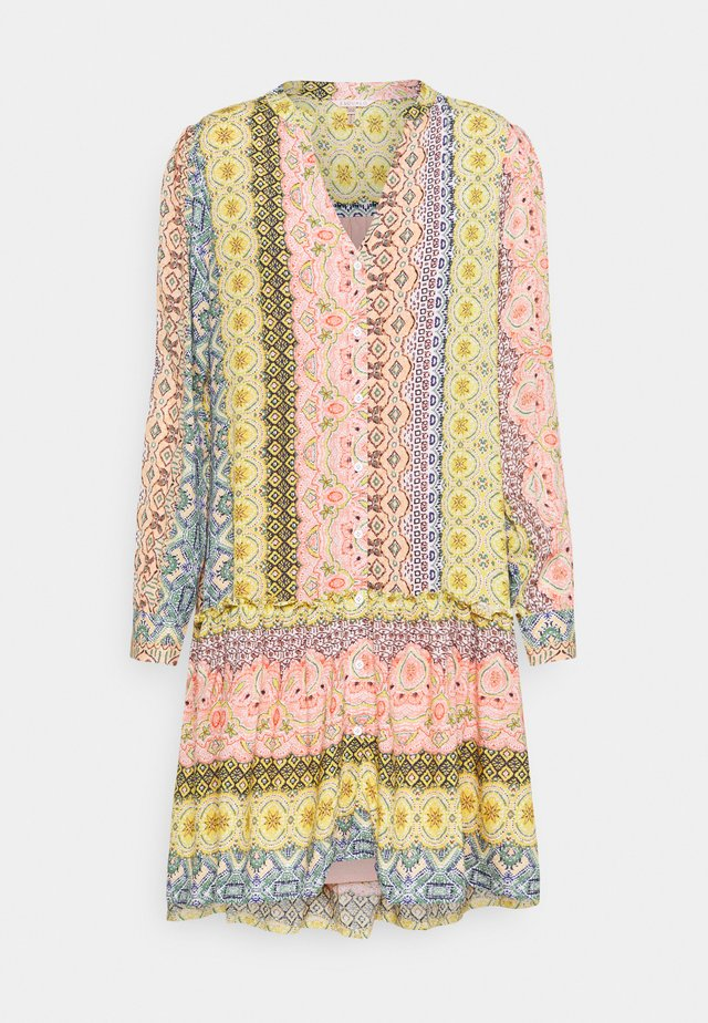 DRESS RUFFLE BORDER PRINT - Korte jurk - multi-coloured