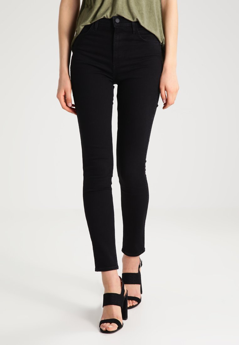 Levi's® Line 8 - LEVIS LINE 8 HIGH SKINNY - Jeansy Skinny Fit - carbon