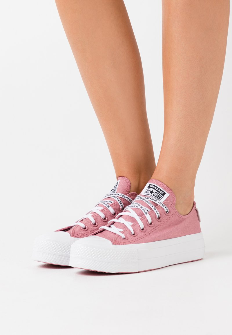 Converse - CHUCK TAYLOR ALL STAR LIFT - Trainers - dusty rose/white/black