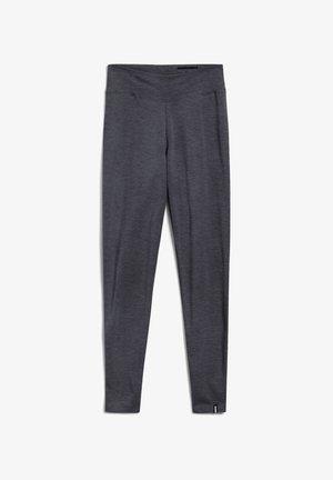 FARIBAA LOGO - Legging - grey melange