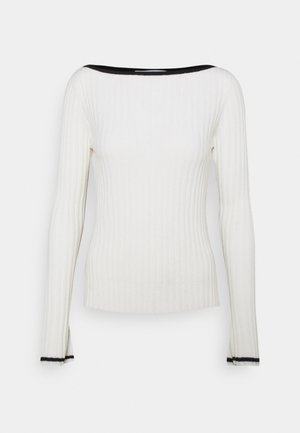 BOAT NECK - Jumper - white