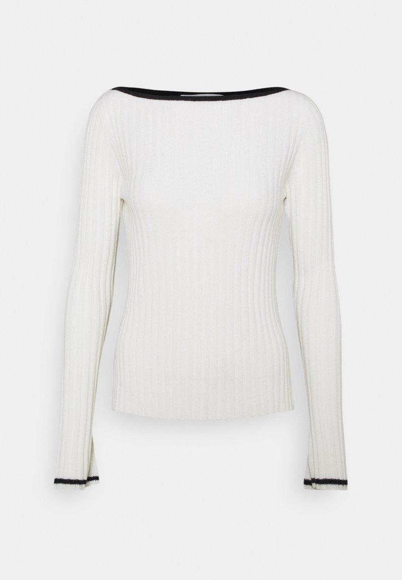 pure cashmere - BOAT NECK - Svetr - white