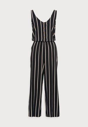 CULOTTE OVERALL - Jumpsuit - black/beige