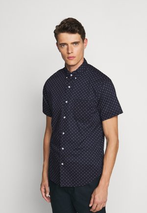 SLUB LAWN DOT - Shirt - navy/ivory