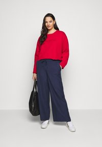 Simply Be - EASY CARE WIDE - Trousers - navy - 1