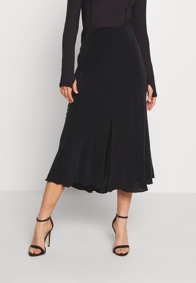 Weekday - WAVE SKIRT - A-line skirt - black