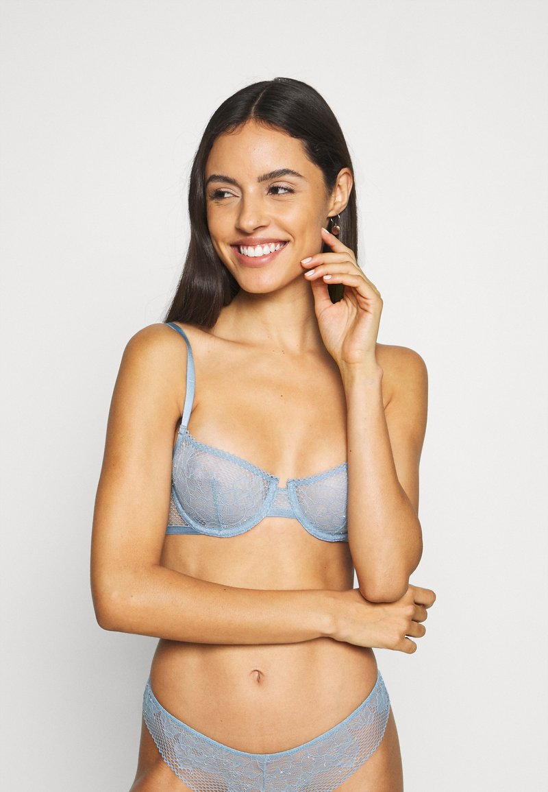 DKNY Intimates - SOFT TECH UNLINED DEMI BRA - Beugel BH - storm