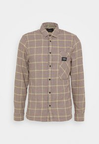 GENTLEMAN'S CHECK - Shirt - dark brown