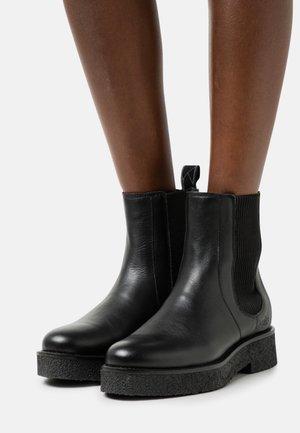 FARO - Kotníkové boty na platformě - black