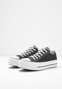Converse - CHUCK TAYLOR ALL STAR LIFT GLITTER - Joggesko - black/white - 4