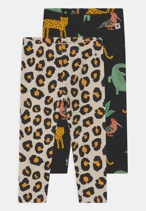 LEO AND ANIMALS 2 PACK - Leggings - off black