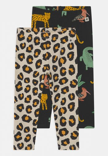LEO AND ANIMALS 2 PACK - Leggings - Trousers - off black