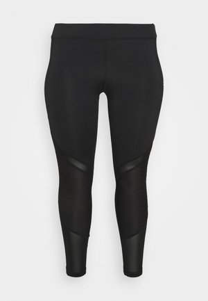 ONPALANI TRAINING CURV - Leggings - black/white