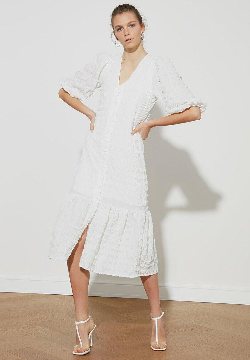 Trendyol - Shirt dress - cream