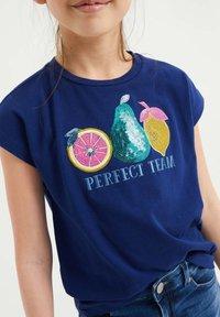 WE Fashion - T-shirt print - blue - 2
