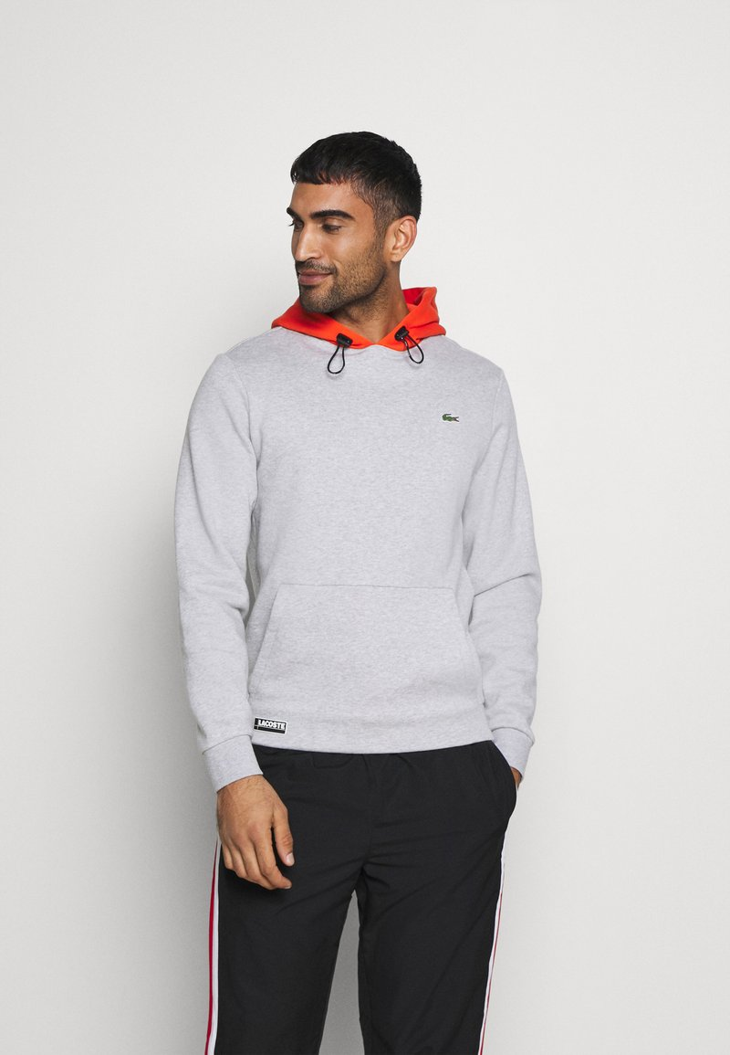 Lacoste Sport - COLOURED HOOD - Sweatshirt - silver chine/gladiolus
