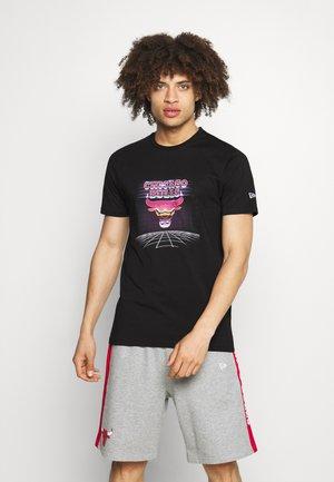 CHICAGO BULLS NBA FUTURISTIC GRAPHIC TEE - Club wear - black