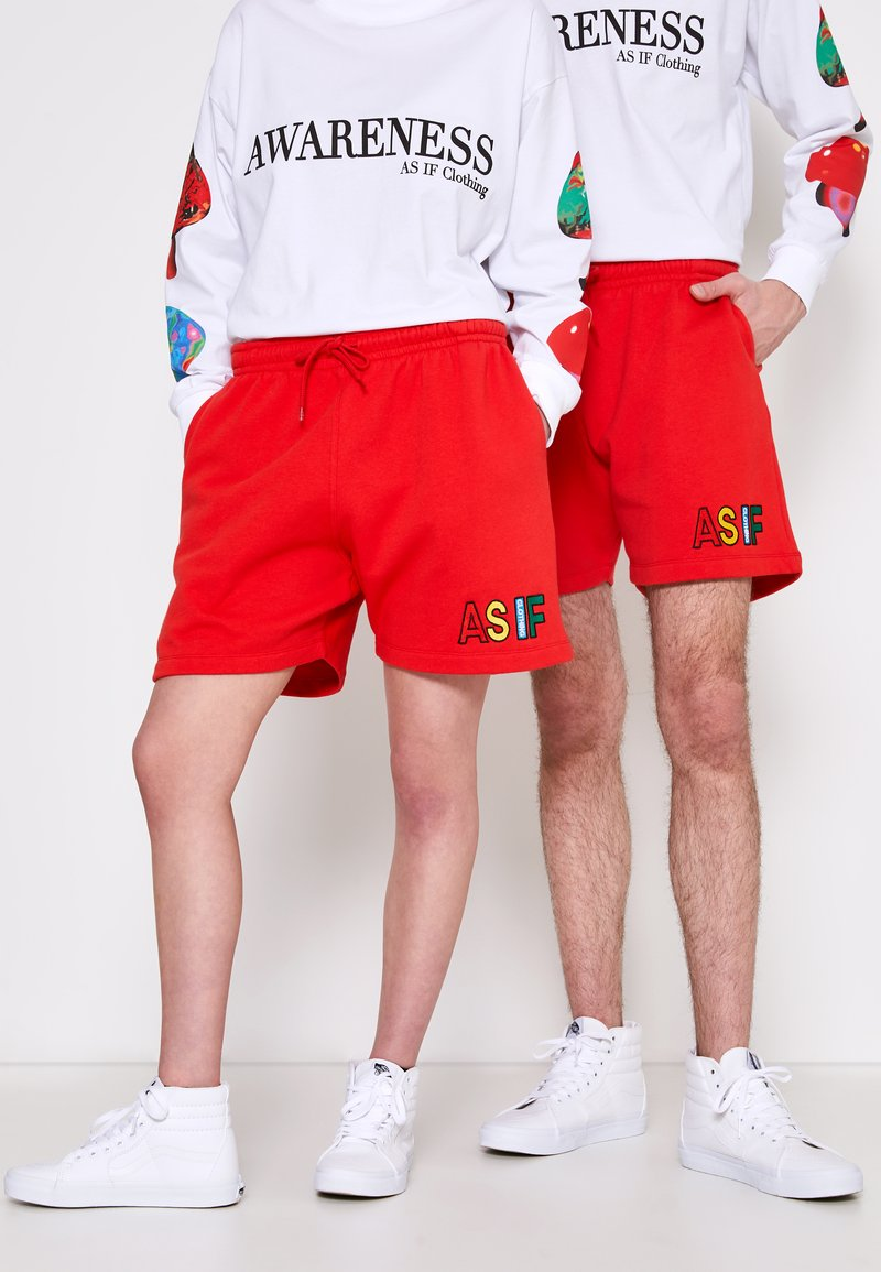 AS IF Clothing - COZY UNISEX - Tracksuit bottoms - red