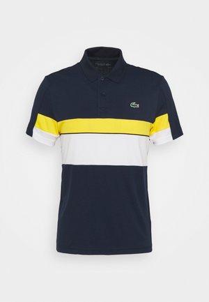 TENNIS TOUR - Pikeepaita - bleu marine/blanc/jaune/noir/blanc