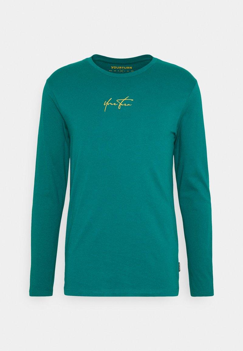 YOURTURN - UNISEX - Top sdlouhým rukávem - turquoise