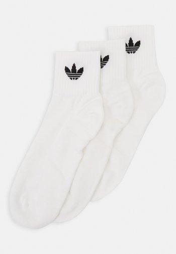MID ANKLE 3 PACK - Socks - white/black