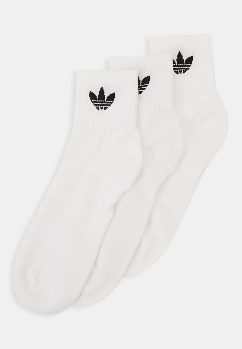 adidas Originals - MID ANKLE 3 PACK - Socken - white/black
