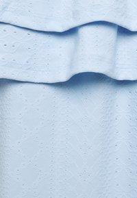 Dorothy Perkins - TEXT TIER BARDOT - Blouse - blue - 2