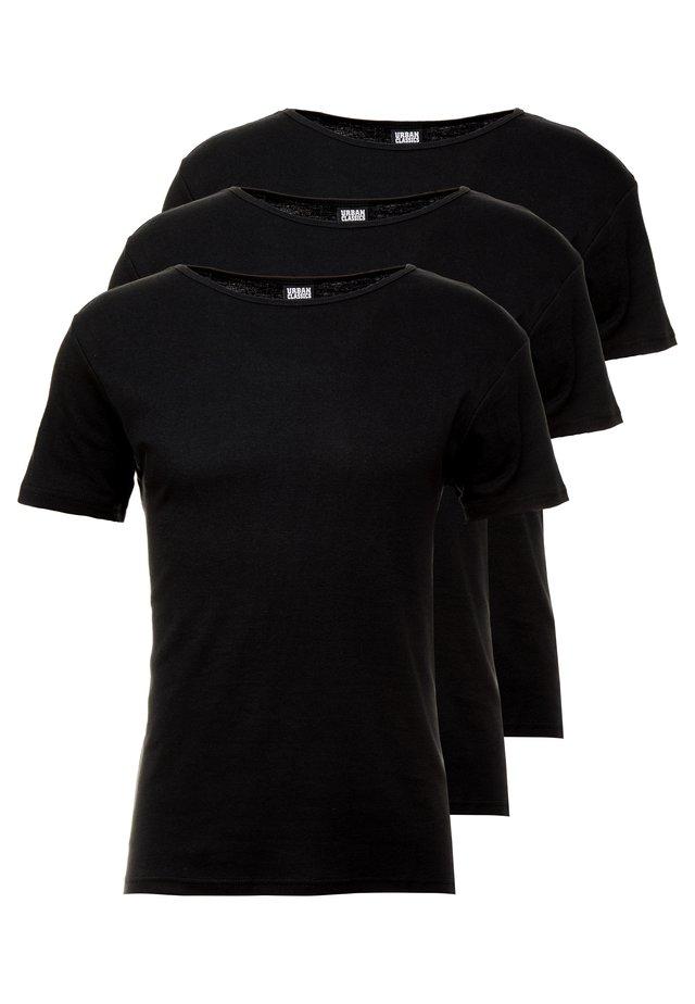 SEAMLESS TEE 3 PACK - Maglietta intima - black