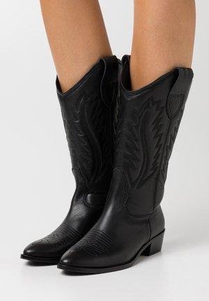 MARIA LISO - Stivali texani / biker - black
