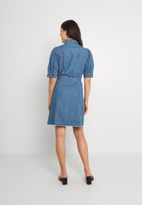 ONLY - ONLGERDA BELT DRESS - Dongerikjole - dark blue denim - 2