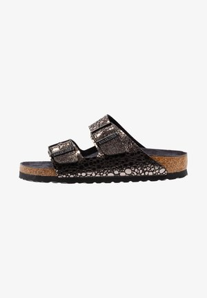 ARIZONA - Slippers - metallic/black