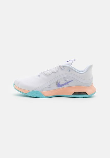 AIR MAX VOLLEY - Allcourt tennissko - white/purple pulse/copa/crimson tint