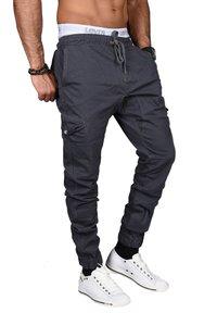 Alessandro Salvarini - DESIGNER - Cargo trousers - anthrazit - 2