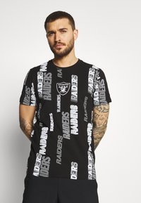 New Era - NFL LAS VEGAS RAIDERS RETRO SPORTS TEE - Print T-shirt - black - 0