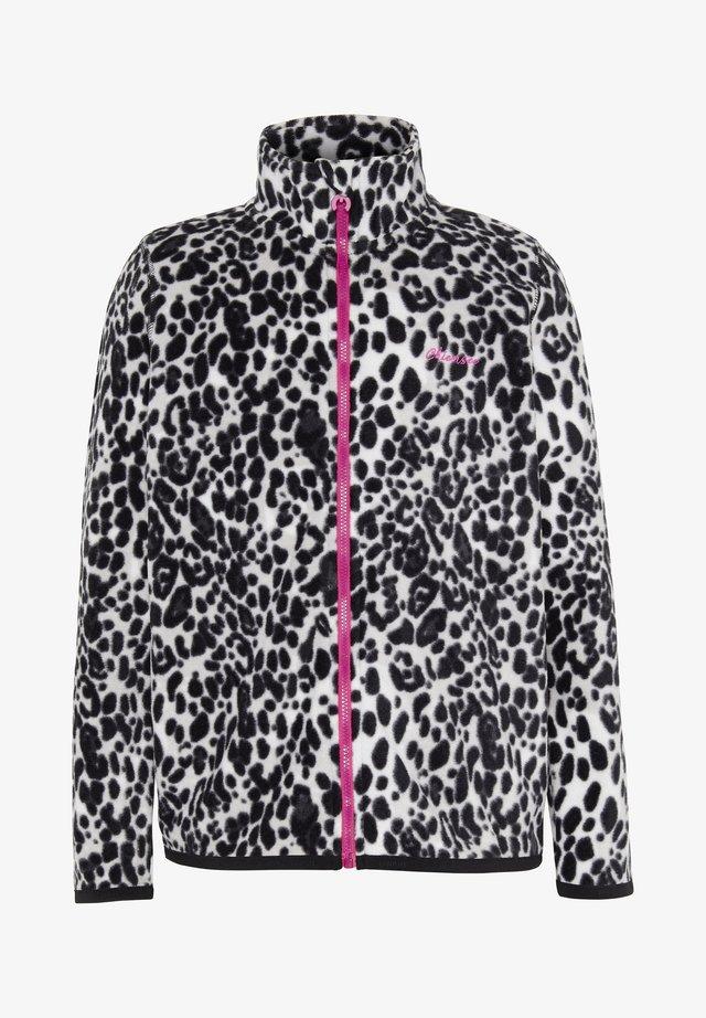 MIT ALLOVERPRINT - Fleece jacket - l grey/blck aop