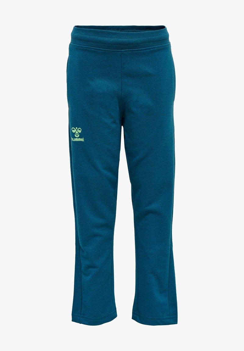 Hummel - Tracksuit bottoms - blue coral green ash