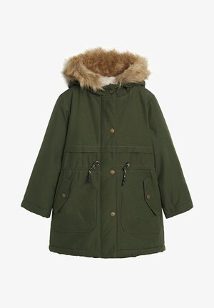 FAUX SHEARLING LINING - Winter coat - khaki