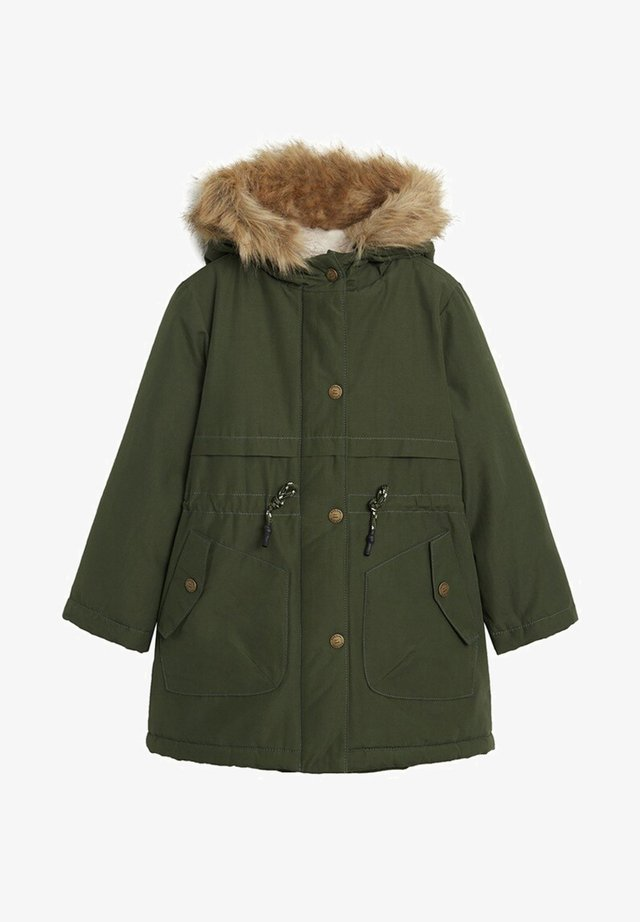 FAUX SHEARLING LINING - Wintermantel - khaki